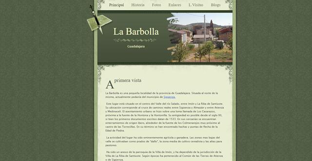 Página web de La Barbolla