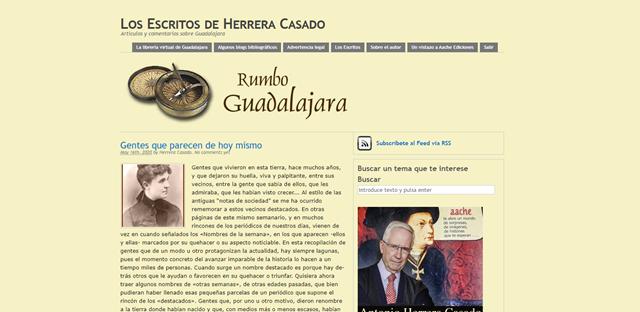 Web del cronista oficial de Guadalajara Herrera Casado